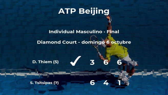 El tenista Dominic Thiem venció a Stefanos Tsitsipas en la final del torneo ATP 500 de Pekín