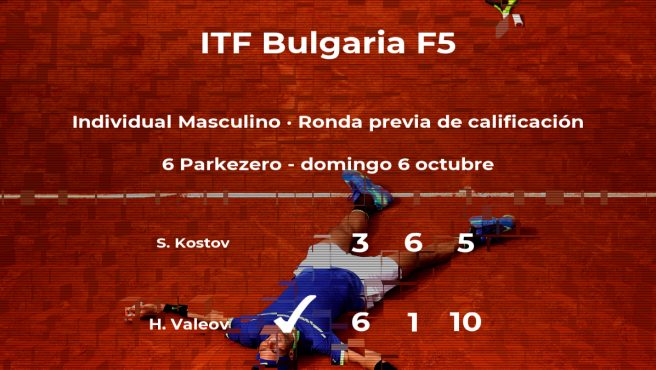 Hristo Valeov ganó a Simeon Kostov en la ronda previa de calificación del torneo de Burgas