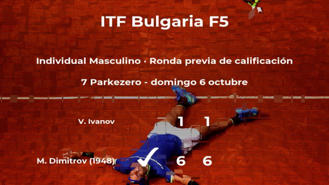 Martin Dimitrov consigue vencer en la ronda previa de calificación contra Venci Ivanov