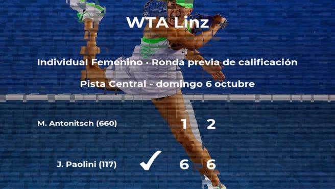 Jasmine Paolini pasa a la siguiente fase del torneo WTA International de Linz