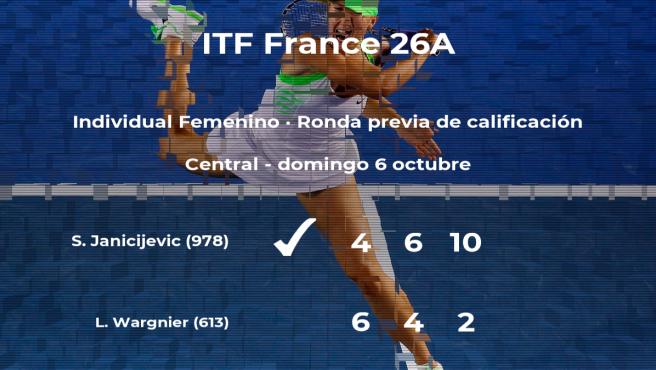 La tenista Selena Janicijevic pasa a la siguiente fase del torneo ITF France 26A