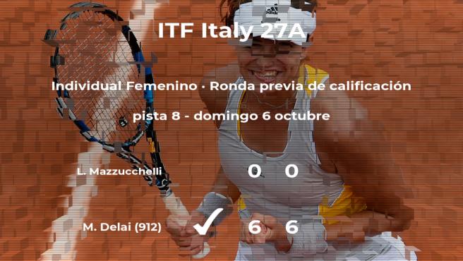 Melania Delai ganó a la tenista Ludovica Mazzucchelli en la ronda previa de calificación del torneo de Santa Margherita Di Pula