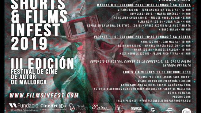 Cartel de la tercera edición del 'Mallorca Films Infest', que se celebra en Palma los días 8 y 11 de octubre de 2019.