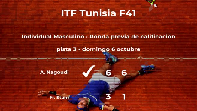 El tenista Adam Nagoudi pasa de ronda del torneo de Tabarka