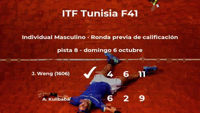 El tenista Jing Long Weng gana en la ronda previa de calificación del torneo de Tabarka