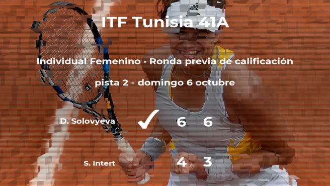 La tenista Daria Solovyeva pasa de ronda del torneo de Tabarka