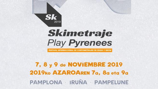 Cartel de de la Octava Edición de Skimetraje Play Pyrenees