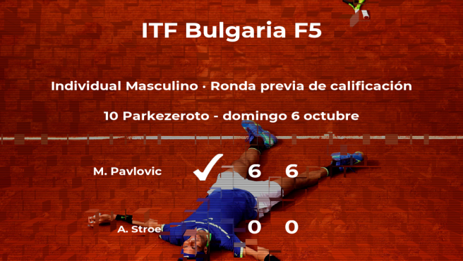 Triunfo del tenista Marko Pavlovic en la ronda previa de calificación