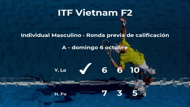 Yi Jui Lo vence en la ronda previa de calificación del torneo de Tay Ninh