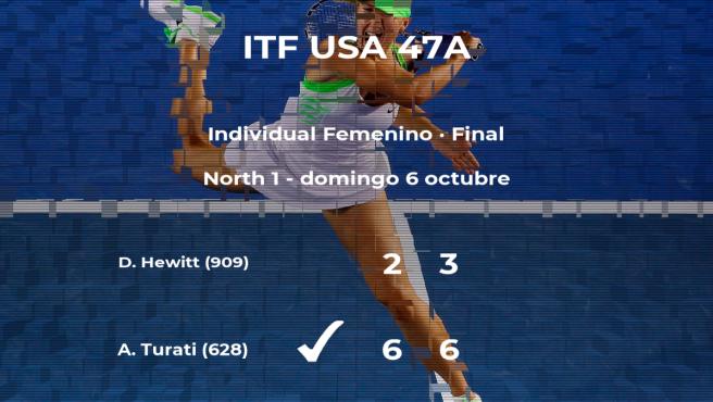 Final del torneo de Norman: Anna Turati derrota a Dalayna Hewitt
