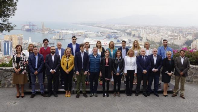 Candidatura del PP de Málaga al Congreso y Senado elecciones 28 de abril bendodo montesinos muñoz ramírez levy