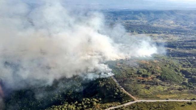 Imagen de la zona afectada por las llamas.