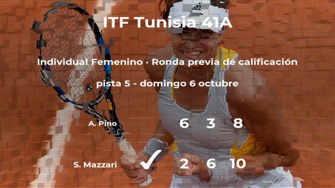 Sveva Mazzari consigue ganar en la ronda previa de calificación contra la tenista Andreina Pino