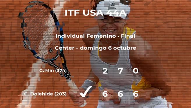 La tenista Caroline Dolehide gana en la final del torneo de Mount Pleasant