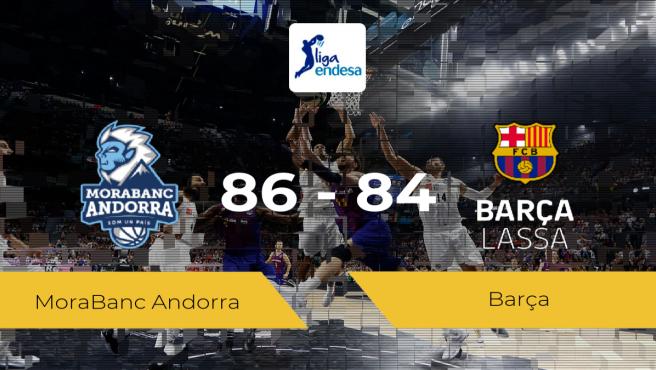 El MoraBanc Andorra se impone por 86-84 frente al Barça