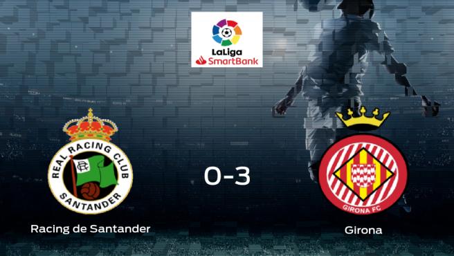 El Girona FC se queda con los tres puntos frente al Racing de Santander (0-3)