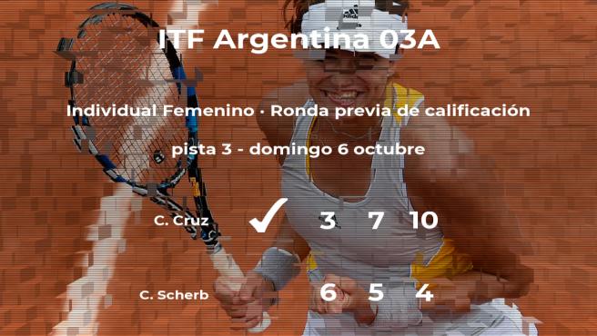 Constanza Cruz vence a Coral Scherb en la ronda previa de calificación