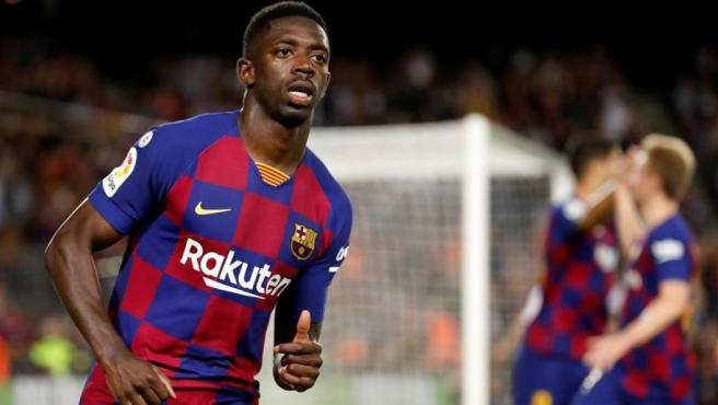 Dembélé, en el partido ante el Sevilla