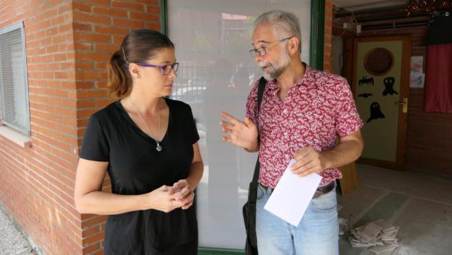 Noelia Posse, durante una visita a un centro educativo.