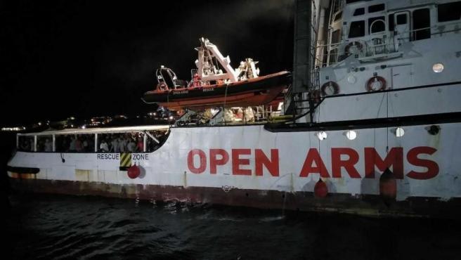 El barco de la ONG española Open Arms, en una imagen de archivo.
