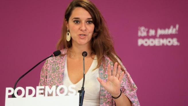 La portavoz de la ejecutiva de Podemos, Noelia Vera.