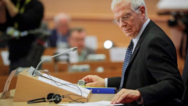 Josep Borrell, en la audiencia en el Parlamento europeo.