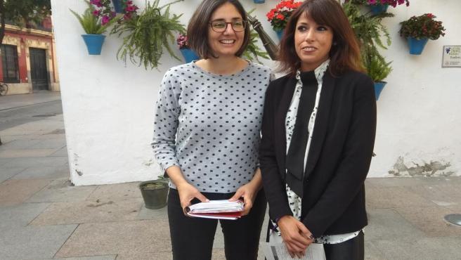 La actual diputada nacional Martina Velarde (dcha.) y Carmen María Ruiz (izda.) encabezan de nuevo la lista de Unidas Podemos al Congreso por Córdoba.
