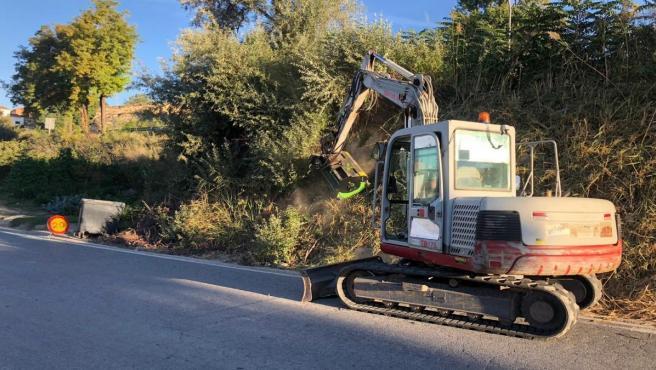 Trabajos de mejora de la carretera entre Benamaurel y Cúllar