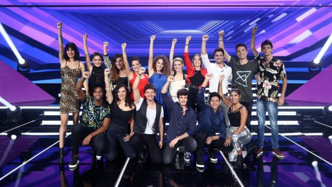 Los 16 concursantes de 'OT 2018'.