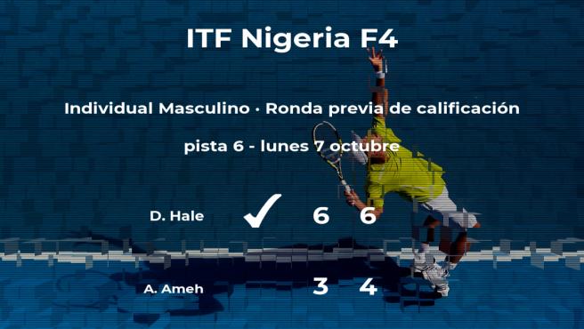 Darryl Hale ganó a Ameh Abah Patrick Ameh en la ronda previa de calificación del torneo de Lagos