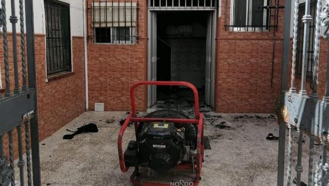 Incendio ocurrido en una vivienda de Sevillla capital
