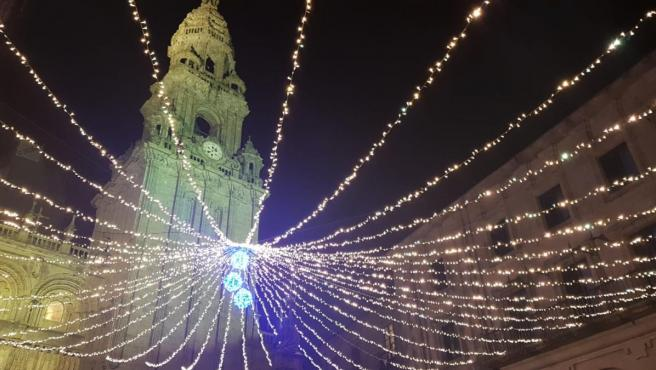 Luces de Navidad en Santiago de Compostela
