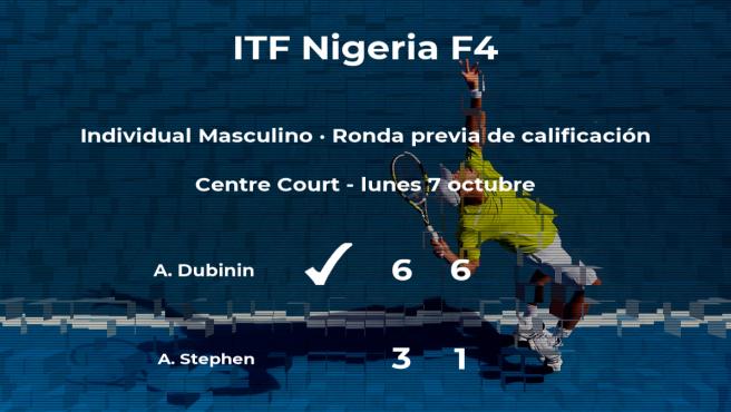 El tenista Alexey Dubinin pasa a la siguiente fase del torneo de Lagos