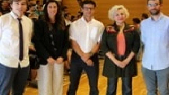Los coordinadores del programa, el doctor Sebastià Massanet y el doctor Daniel Ruiz; la directora general de Primera Infancia, Innovación y Comunidad Educativa del Govern, Amanda Fernández, y el Vicerrector de Docencia de la UIB, Joan Frau