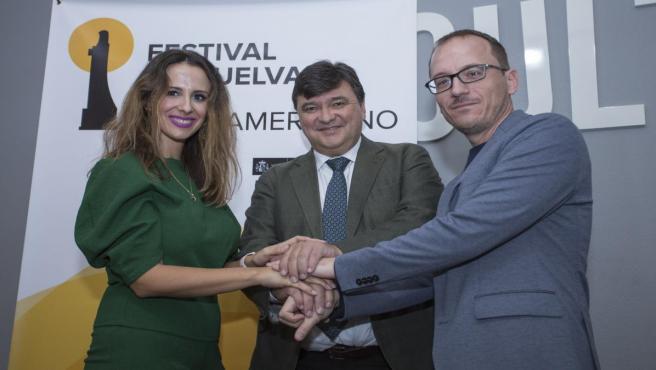 Convenio entre el Festival de Cine de Huelva y el centro comercial Holea.