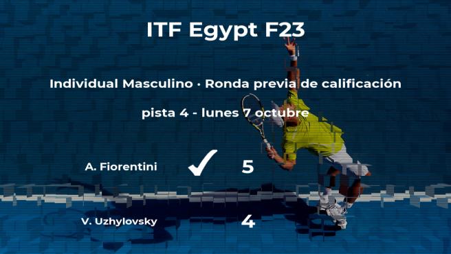 El tenista Andrea Fiorentini pasa de ronda del torneo de Sharm El Sheikh