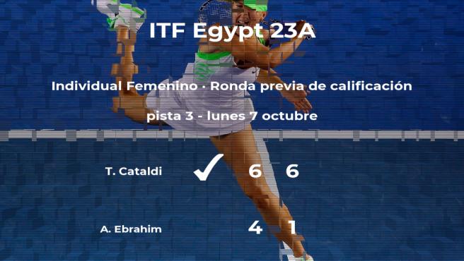 Taylor Cataldi gana a la tenista Aaliya Ebrahim en la ronda previa de calificación