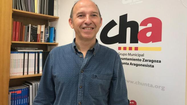 El candidato de CHA a la Alcaldiá de Zaragoza, Carmelo Asensio