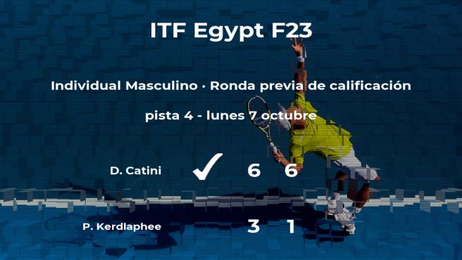 Daniele Catini pasa de ronda del torneo de Sharm El Sheikh