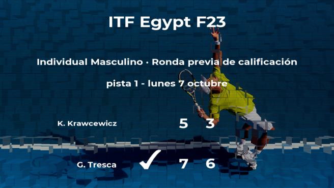 El tenista Giuseppe Tresca gana a Kris Krawcewicz en la ronda previa de calificación