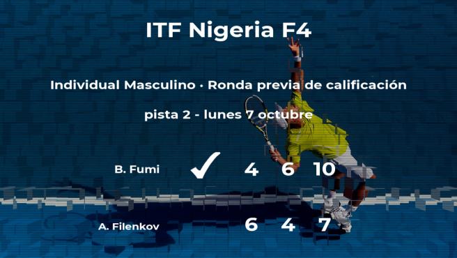 El tenista Benjamin Fumi logra ganar en la ronda previa de calificación contra Alexei Filenkov