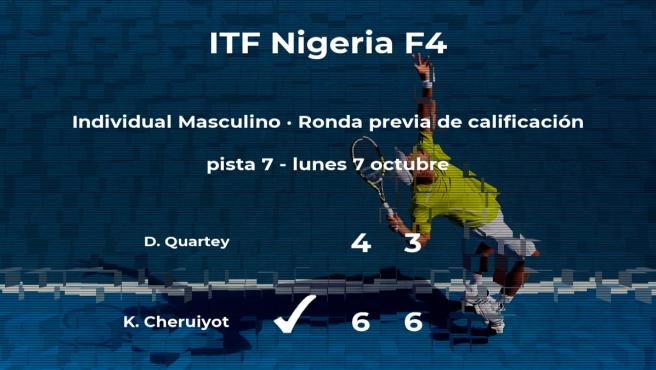 Kevin Cheruiyot gana en la ronda previa de calificación del torneo de Lagos
