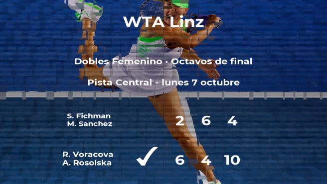 Las tenistas Voracova y Rosolska se clasifican para los cuartos de final del torneo WTA International de Linz