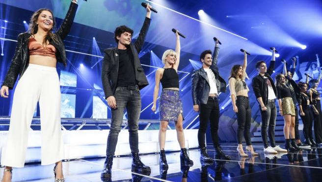 Los concursantes de 'OT 2018' durante una de sus actuaciones.