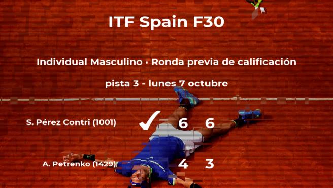 El tenista Sergi Pérez Contri pasa de ronda del torneo de Ribarroja del Turia