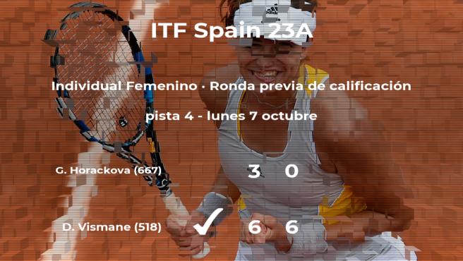 La tenista Daniela Vismane consigue la plaza para la siguiente fase tras vencer en la ronda previa de calificación