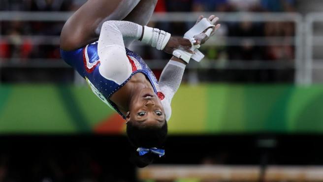 La gimnasta estadounidense Simone Biles.