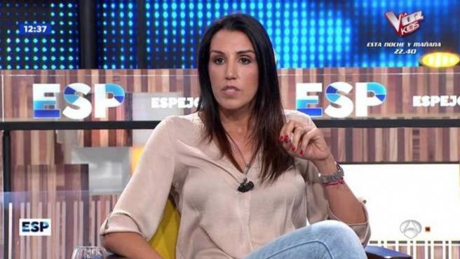 Nuria Bermúdez en su reaparición en 'Espejo público'.