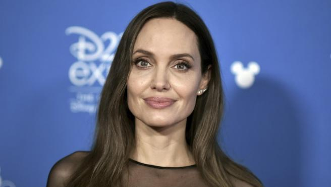 Angelina Jolie en la Expo D23 de Disney.