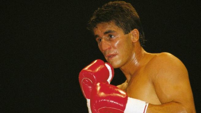 Poli Díaz, durante un combate.
